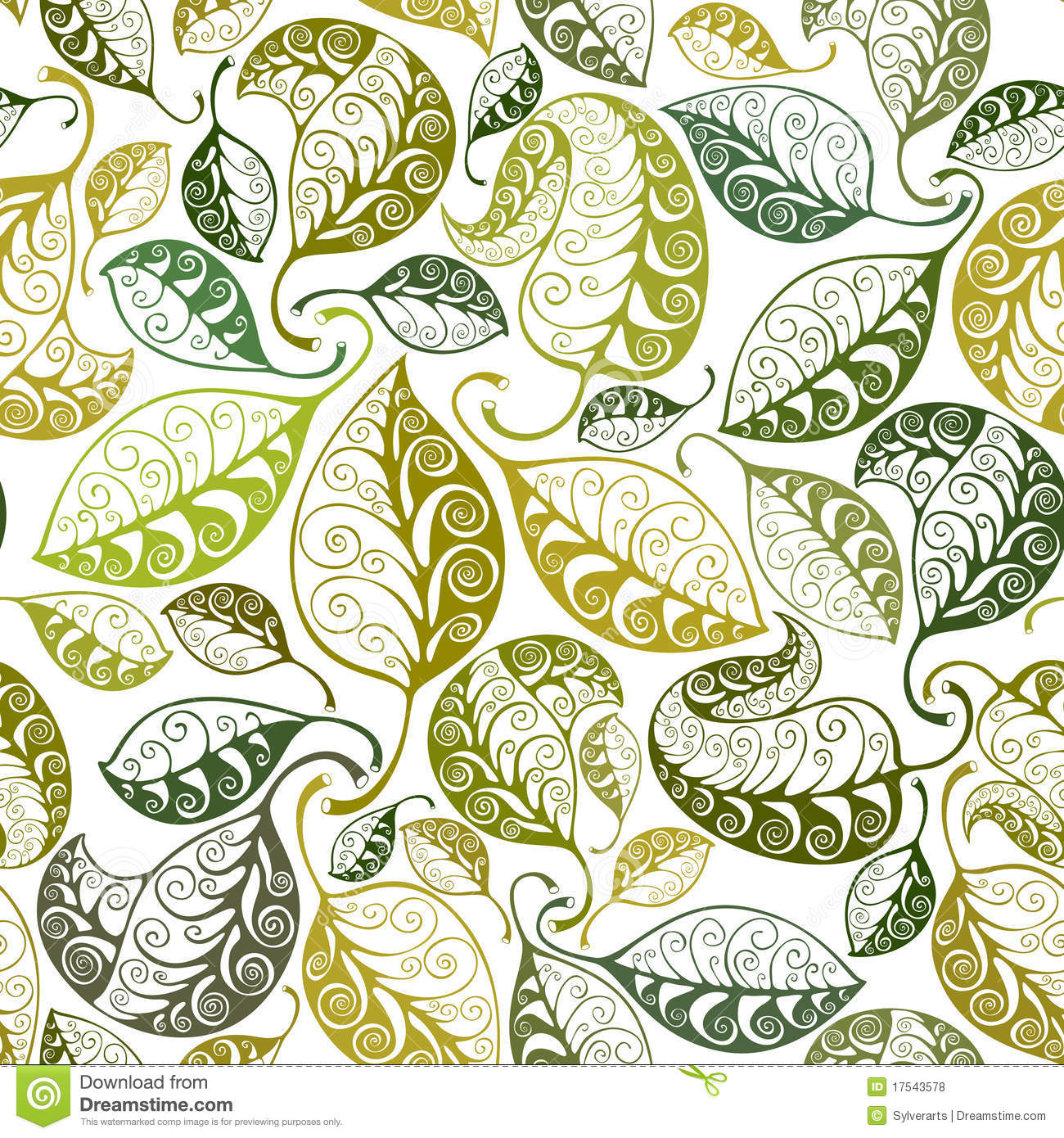 Seamless Leaves Pattern Royalty Free Stock Photos - Image: 17543578