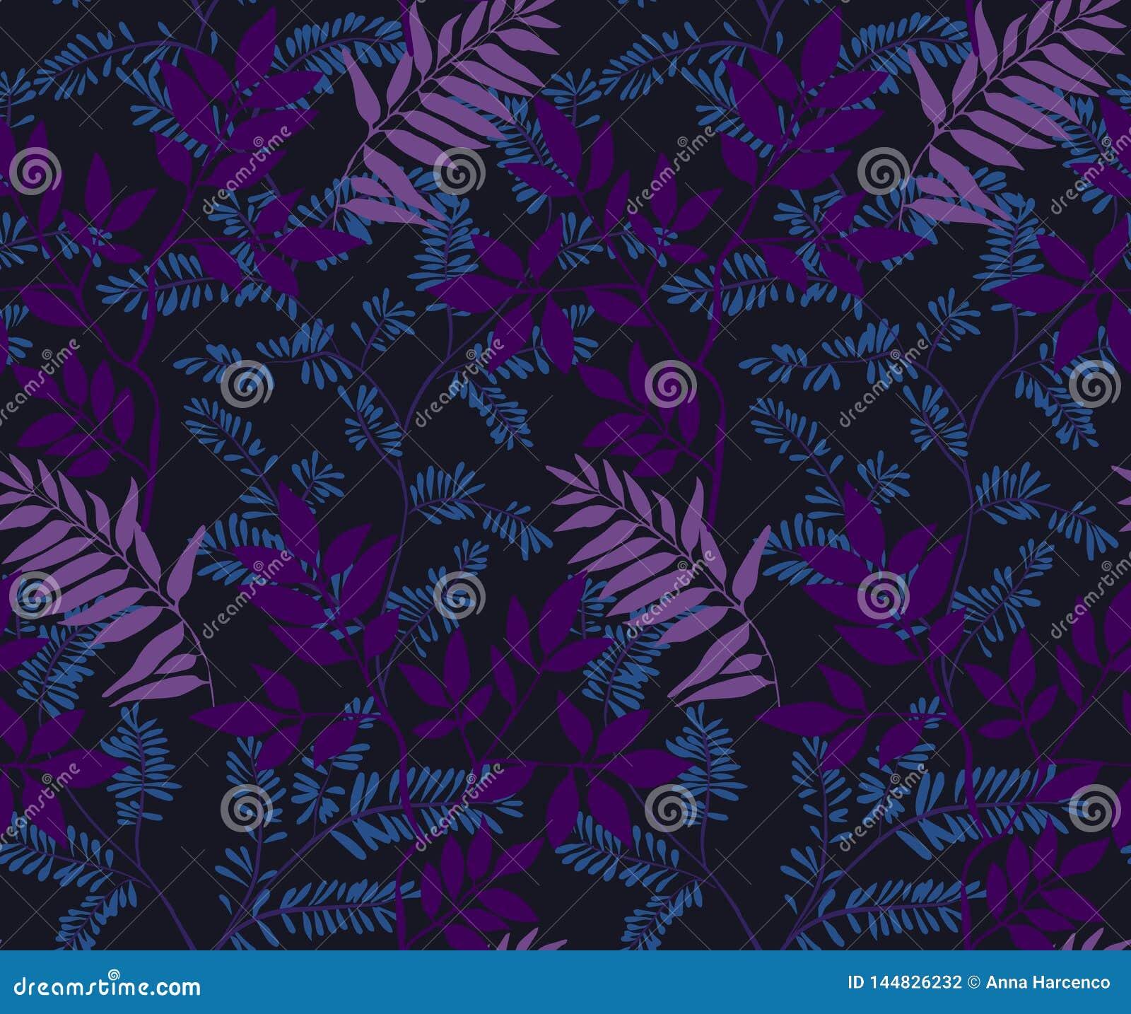 Seamless leaves pattern.