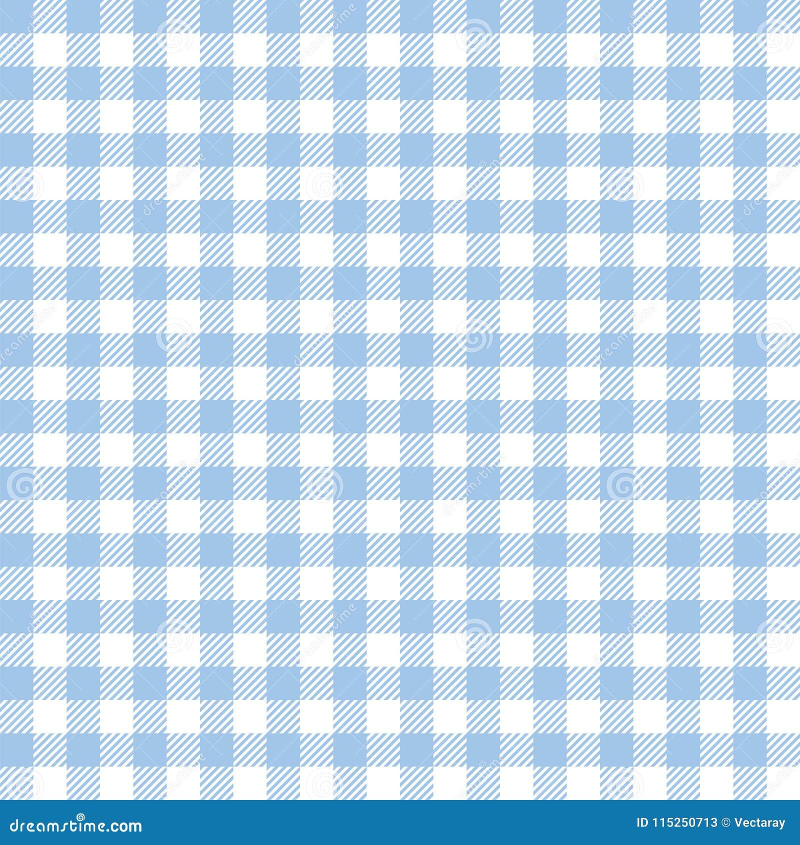 Seamless Light Blue Checkered Fabric Pattern Background