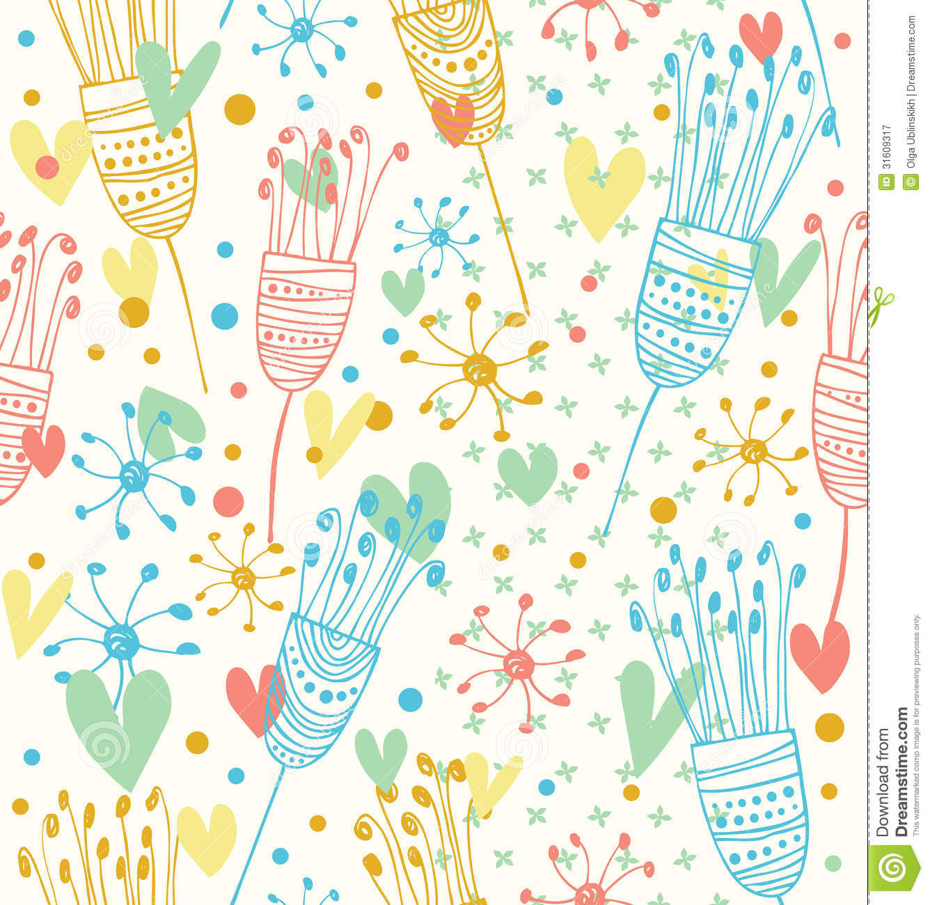 Seamless Light Floral Pattern Cute Background With Flowers Decorative Doodle Texture For Prints Textile Crafts Wallpapers Stock Illustration Illustration Of Lace Cartoon 31609317