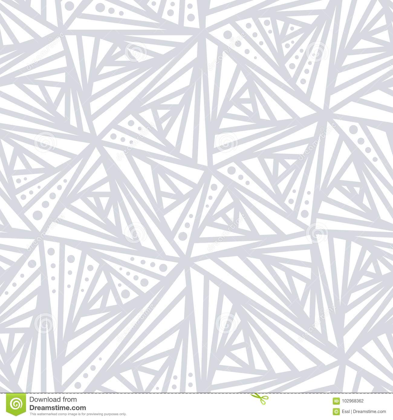 Seamless Light Geometric Pattern. Grey And White Lines And
