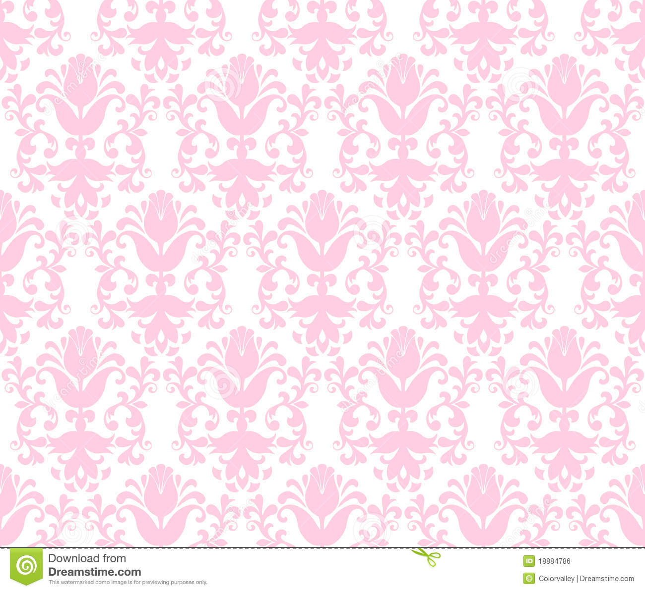 Seamless Light Green Floral Wallpaper Background Royalty