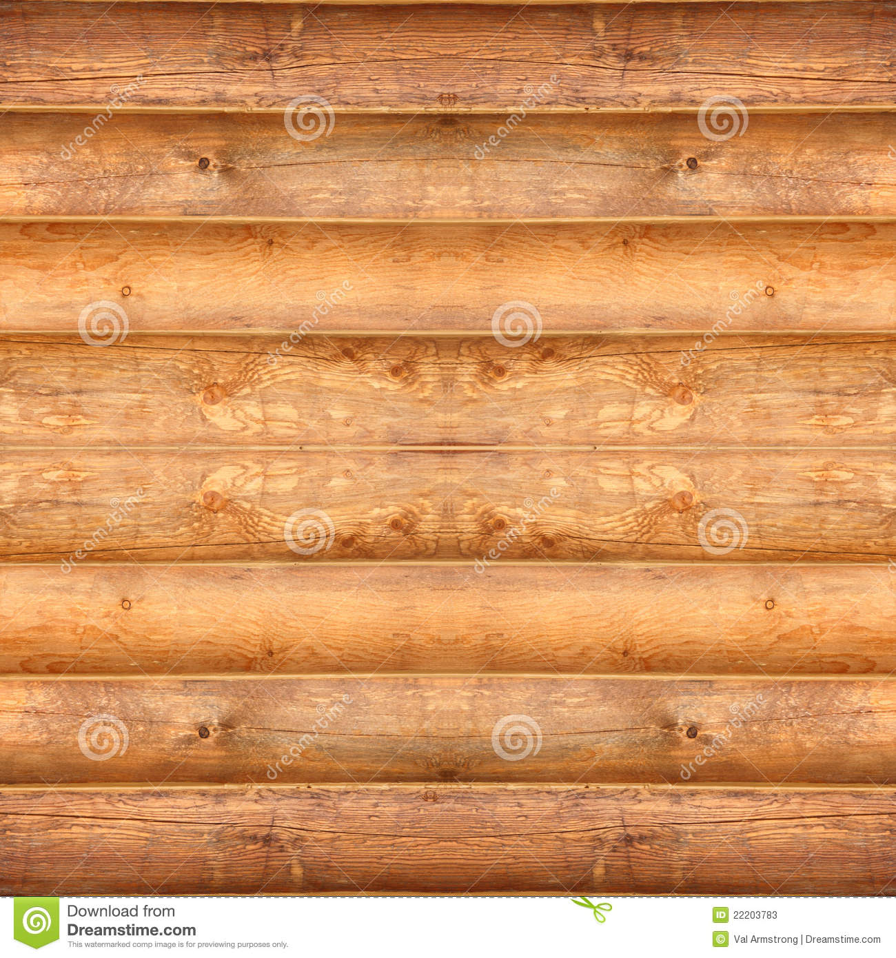 Seamless Log Cabin Texture Stock Image Image Of Natural