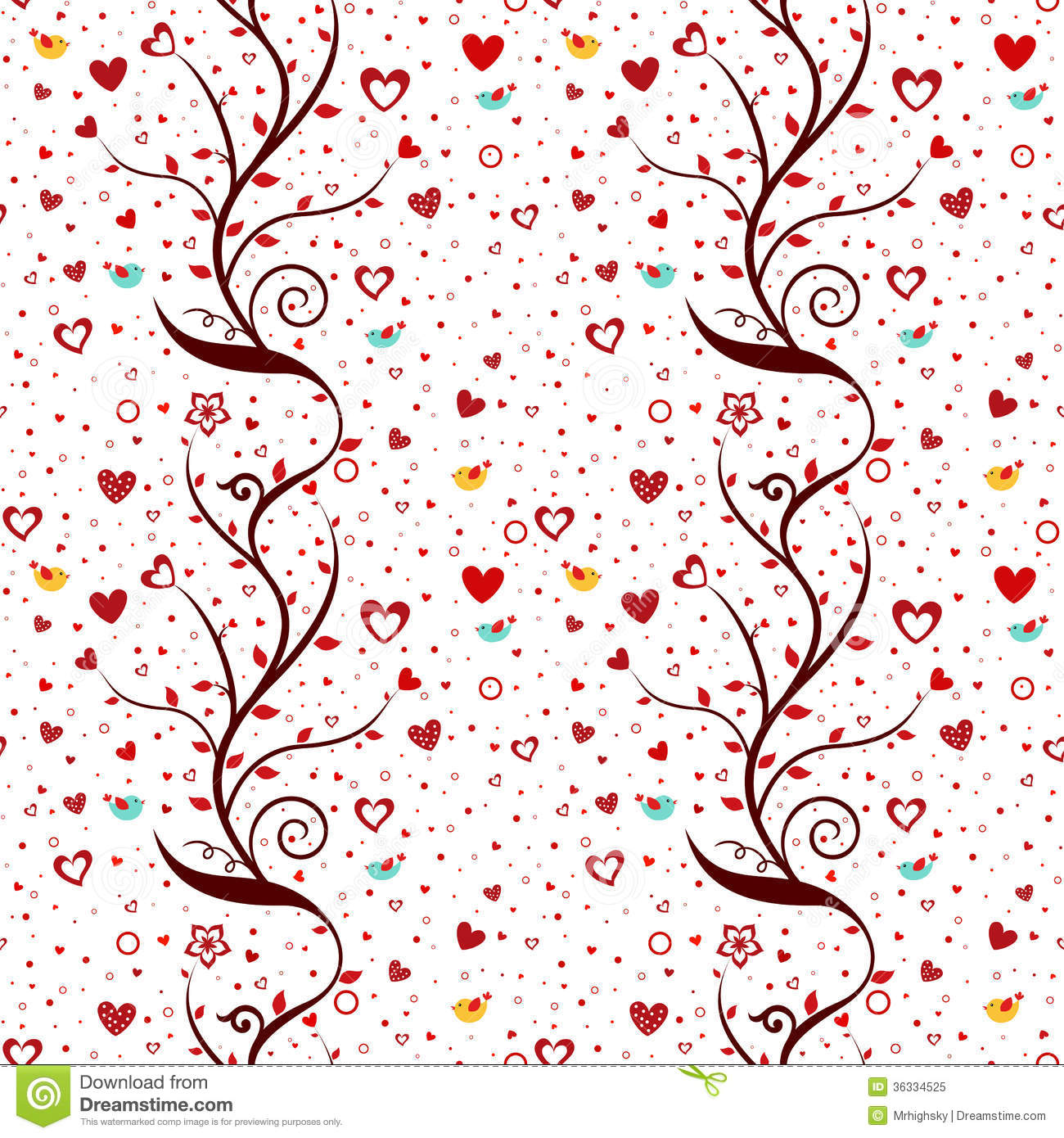 Seamless love pattern stock vector image of graphic for Love design