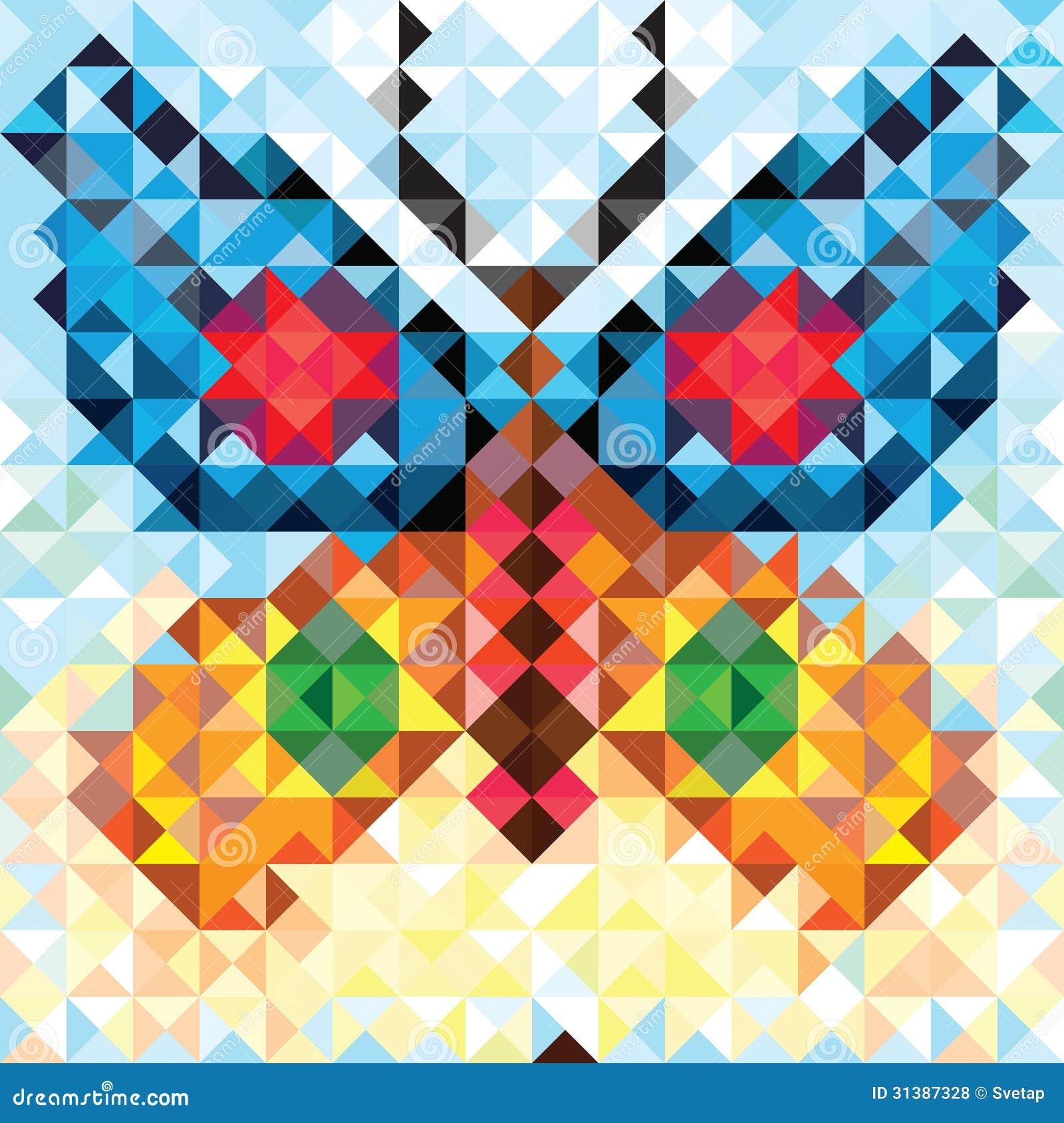 Seamless love pattern of geometric butterfly