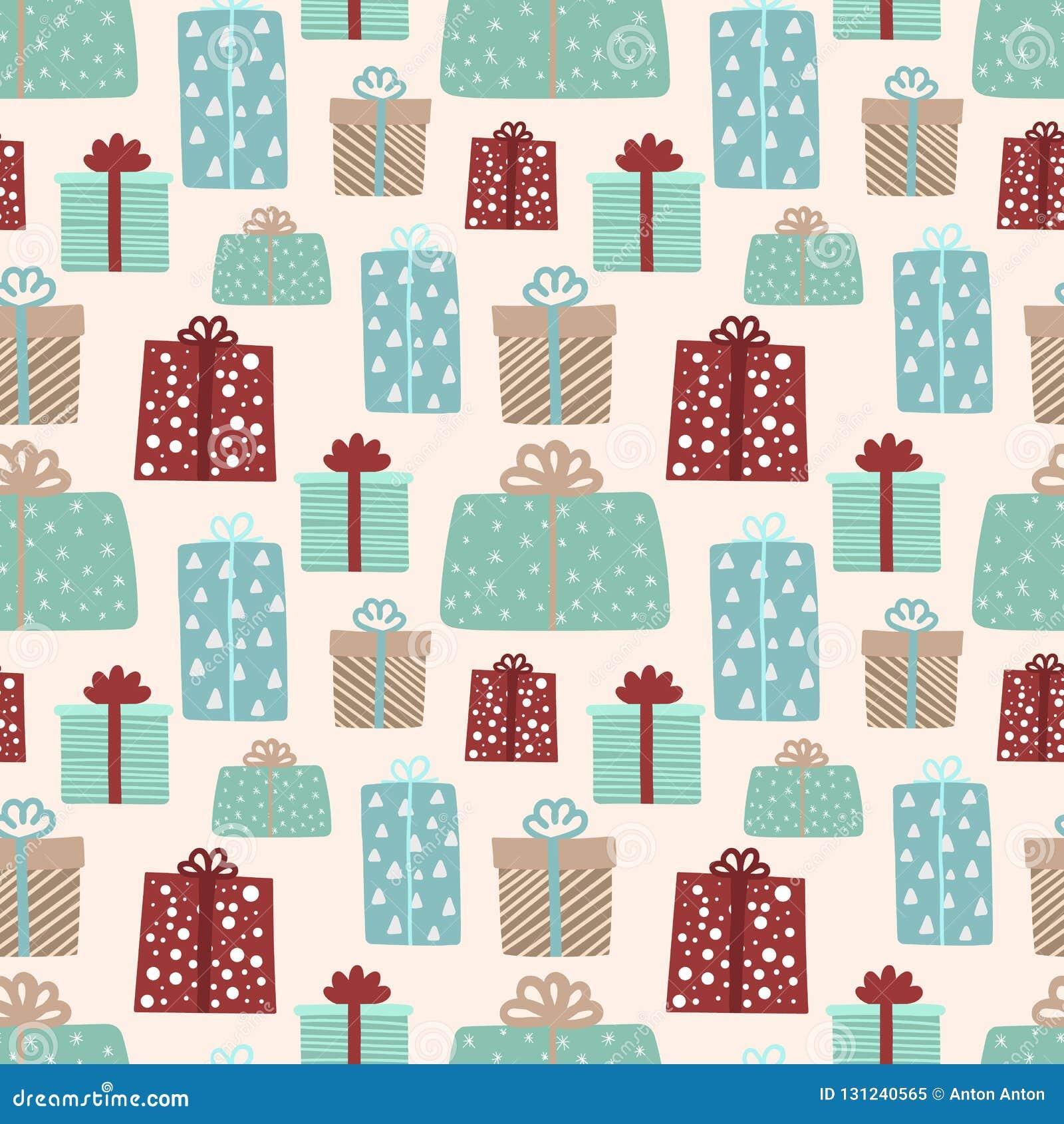 Seamless mönstra för jul och nytt år