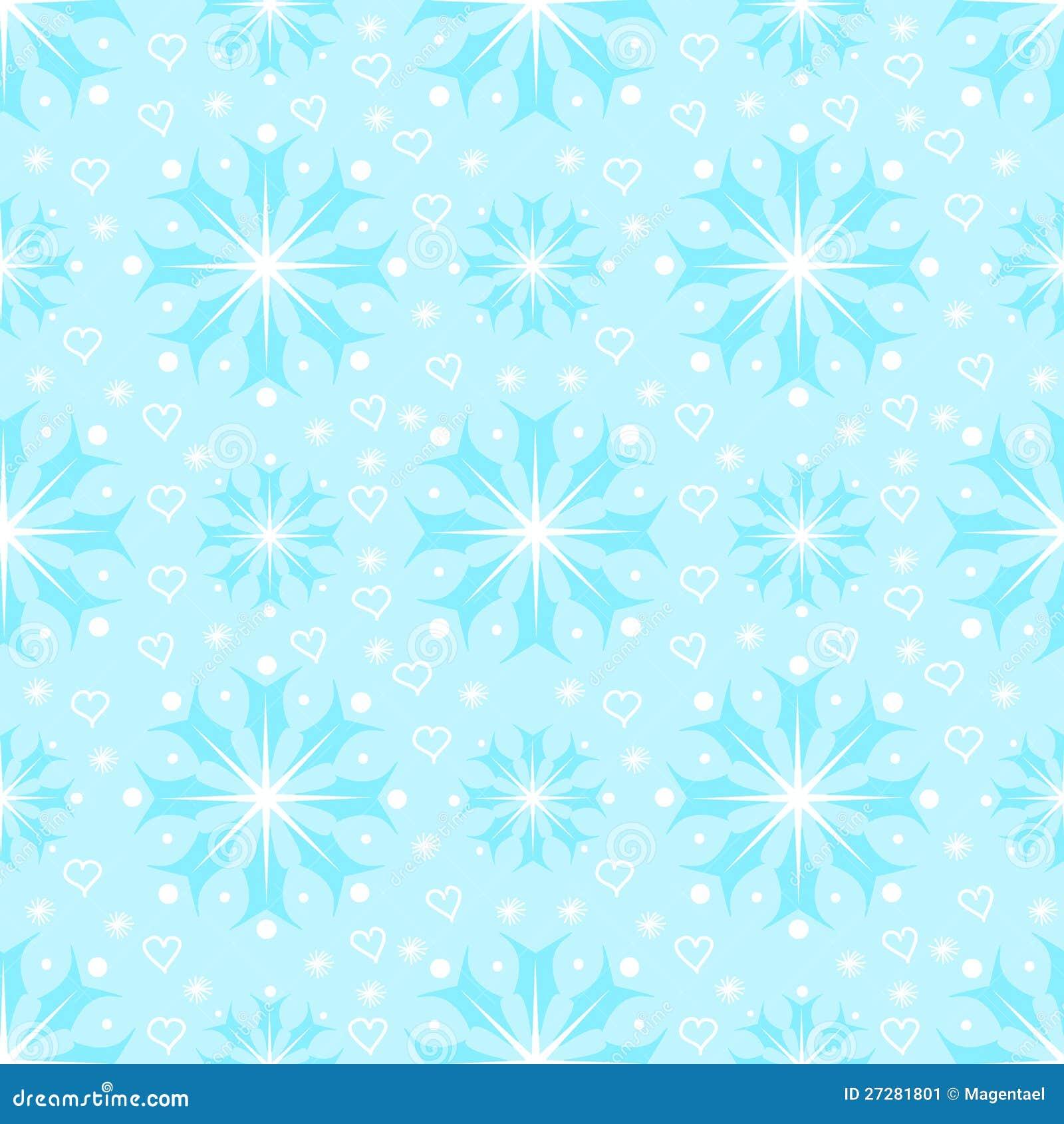 Seamless mönstra med snowflakes