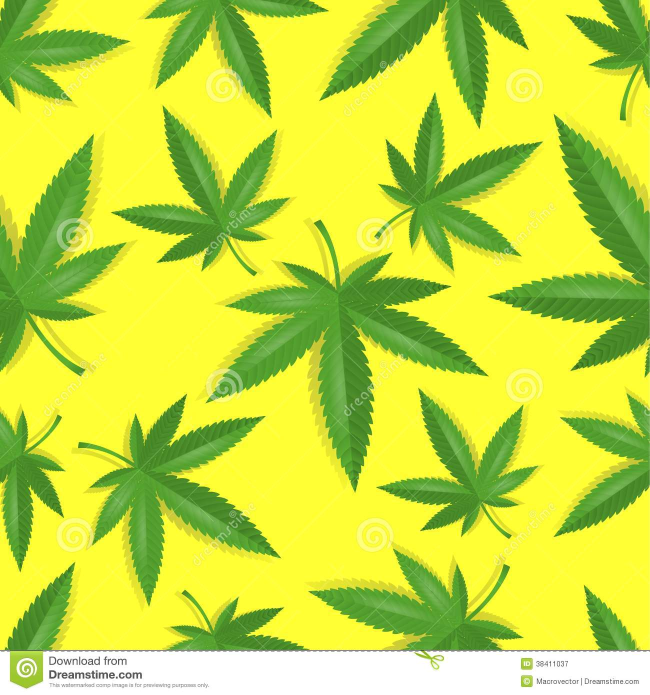 Seamless marijuana cannabis pattern royalty free stock for Weed leaf template