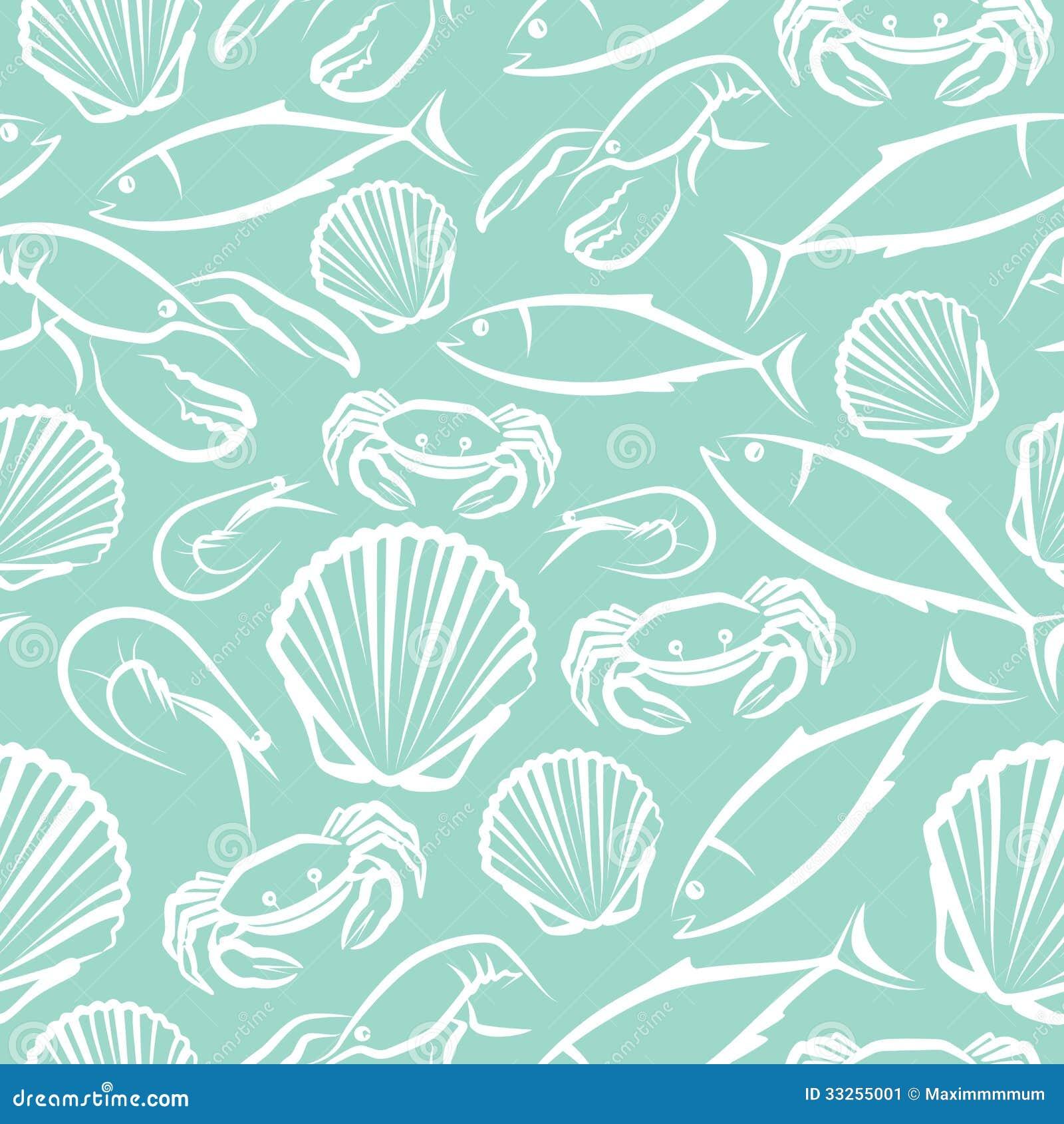 Seamless marine pattern stock image image 33255001
