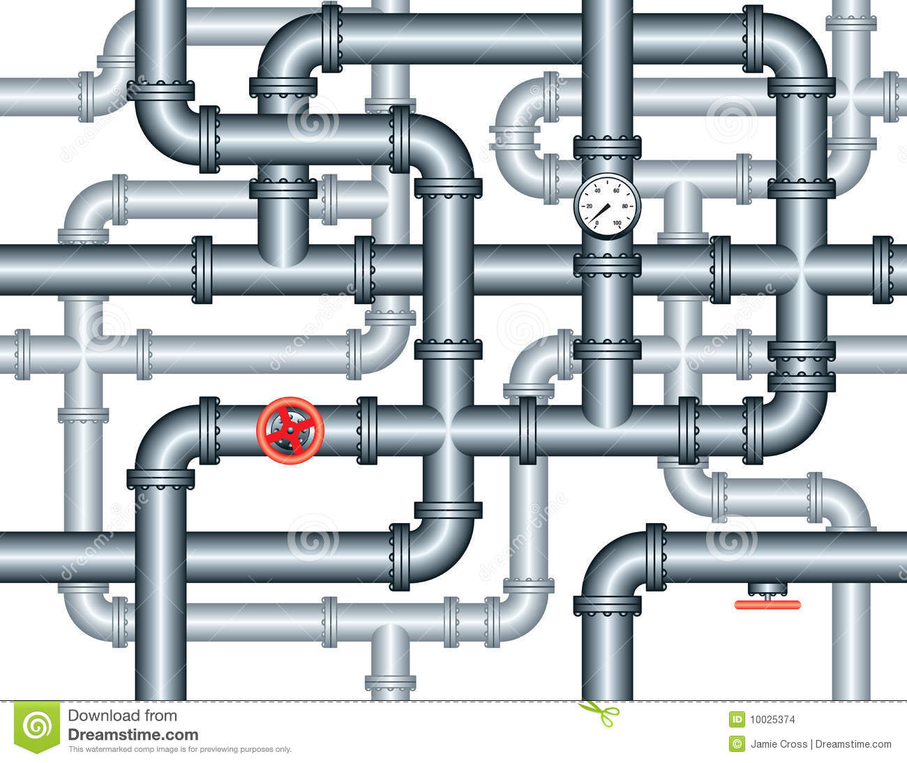 Seamless maze of plumbing pipes stock vector for What pipes to use for plumbing