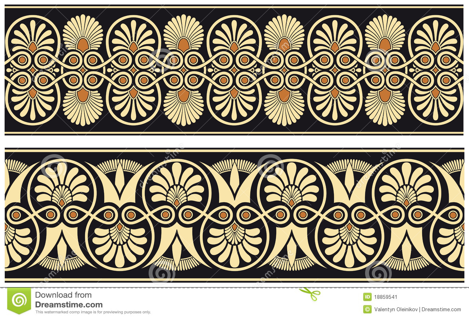 Seamless Medieval Pattern Stock Image - Image: 18859541