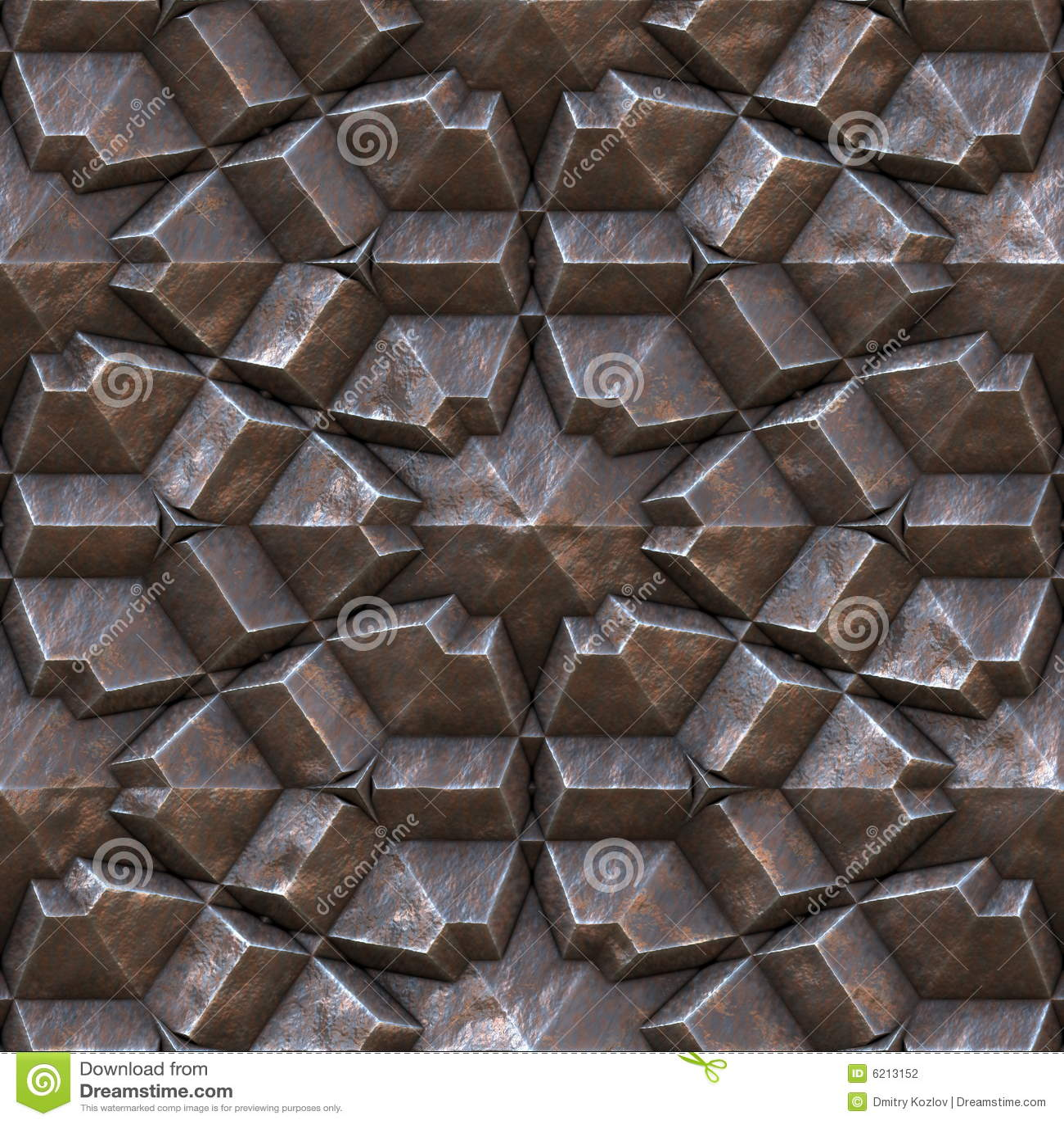 Seamless Metal Wall Texture