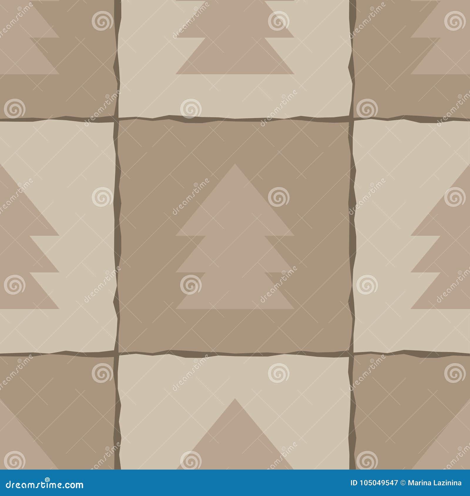 Seamless modell Festligt brunt Kraft inpackningspapper Textur Kraft