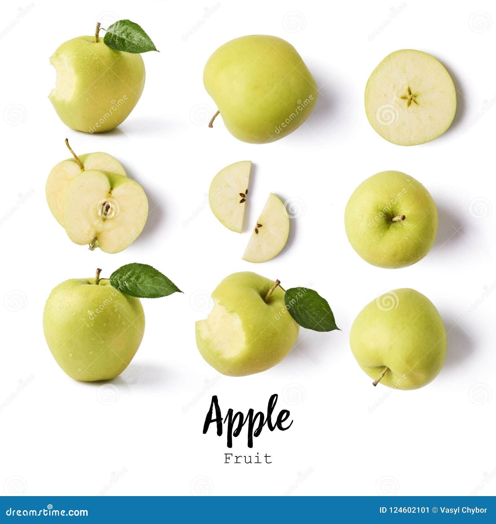 Seamless modell med äpplen äpplefrukter, idérik orienteringsisolator