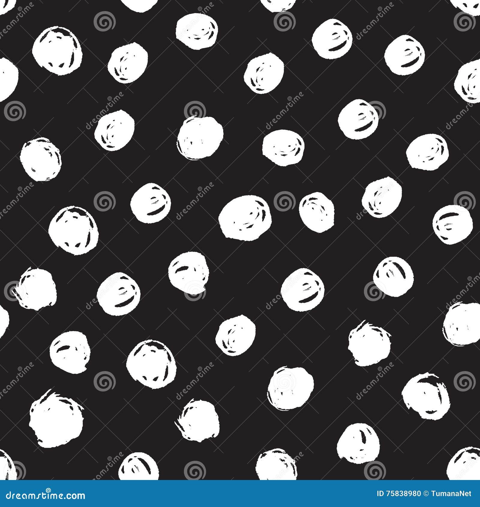 Seamless Monochrome Geometric Pattern Background With Sketch