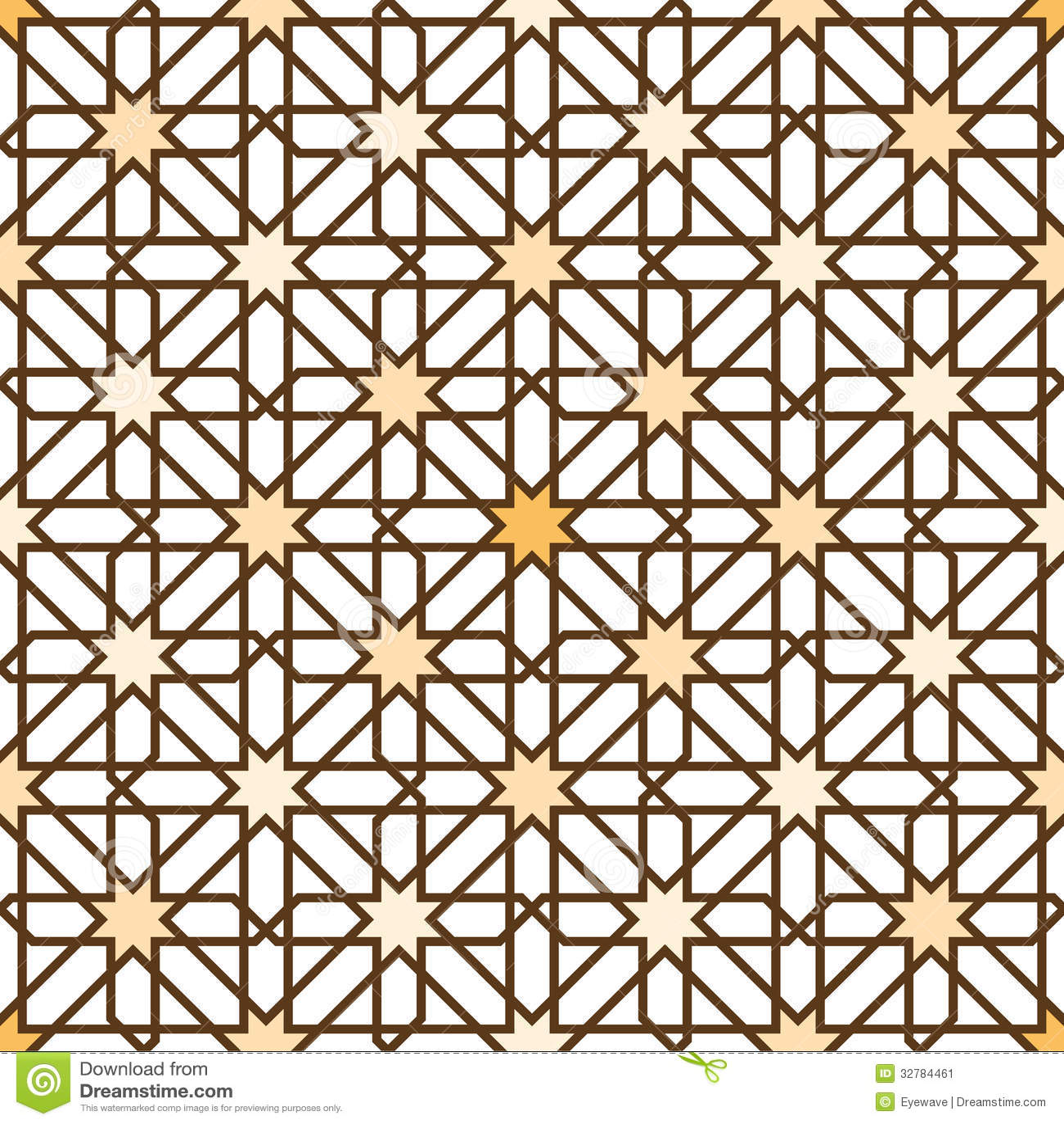 Seamless Moorish Star Pattern Background Stock Image - Image: 32784461