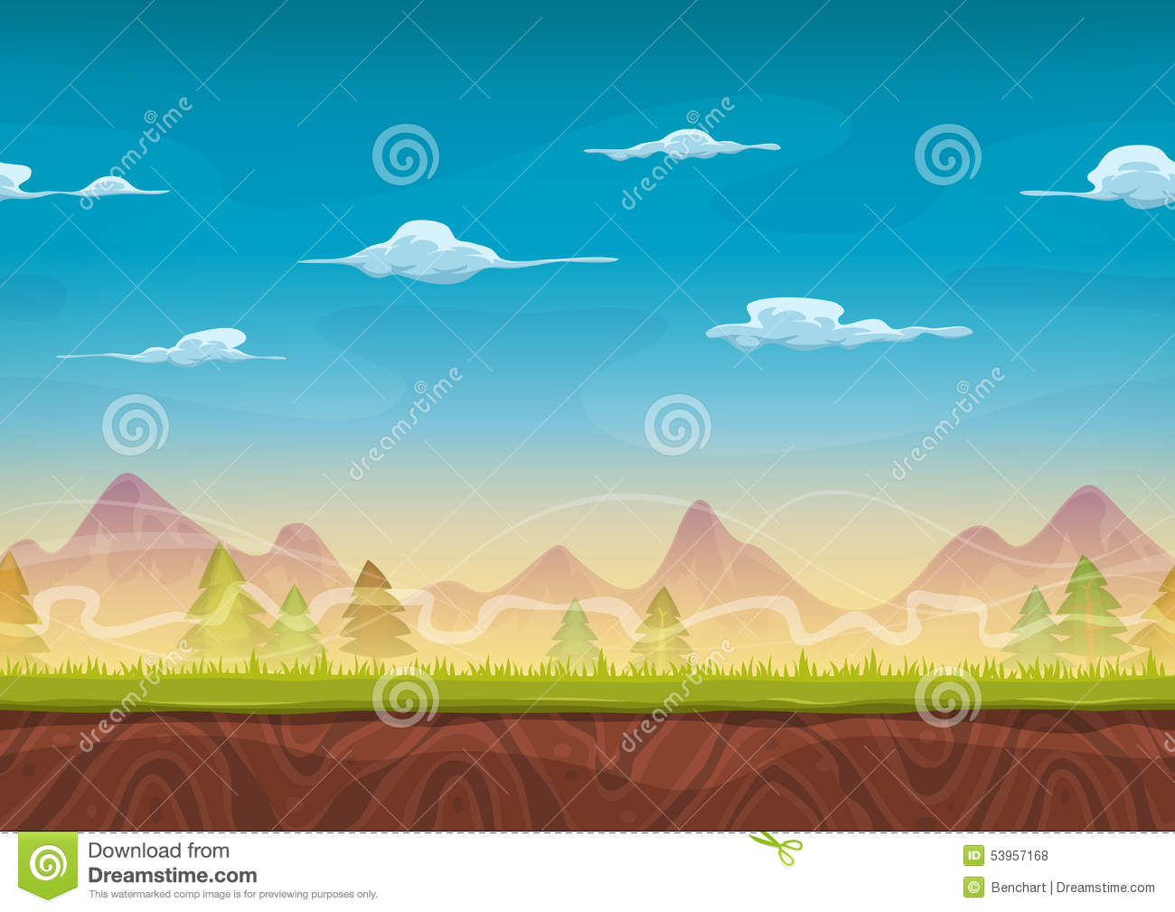 vector cartoon landscape backgroundsfree - photo #45