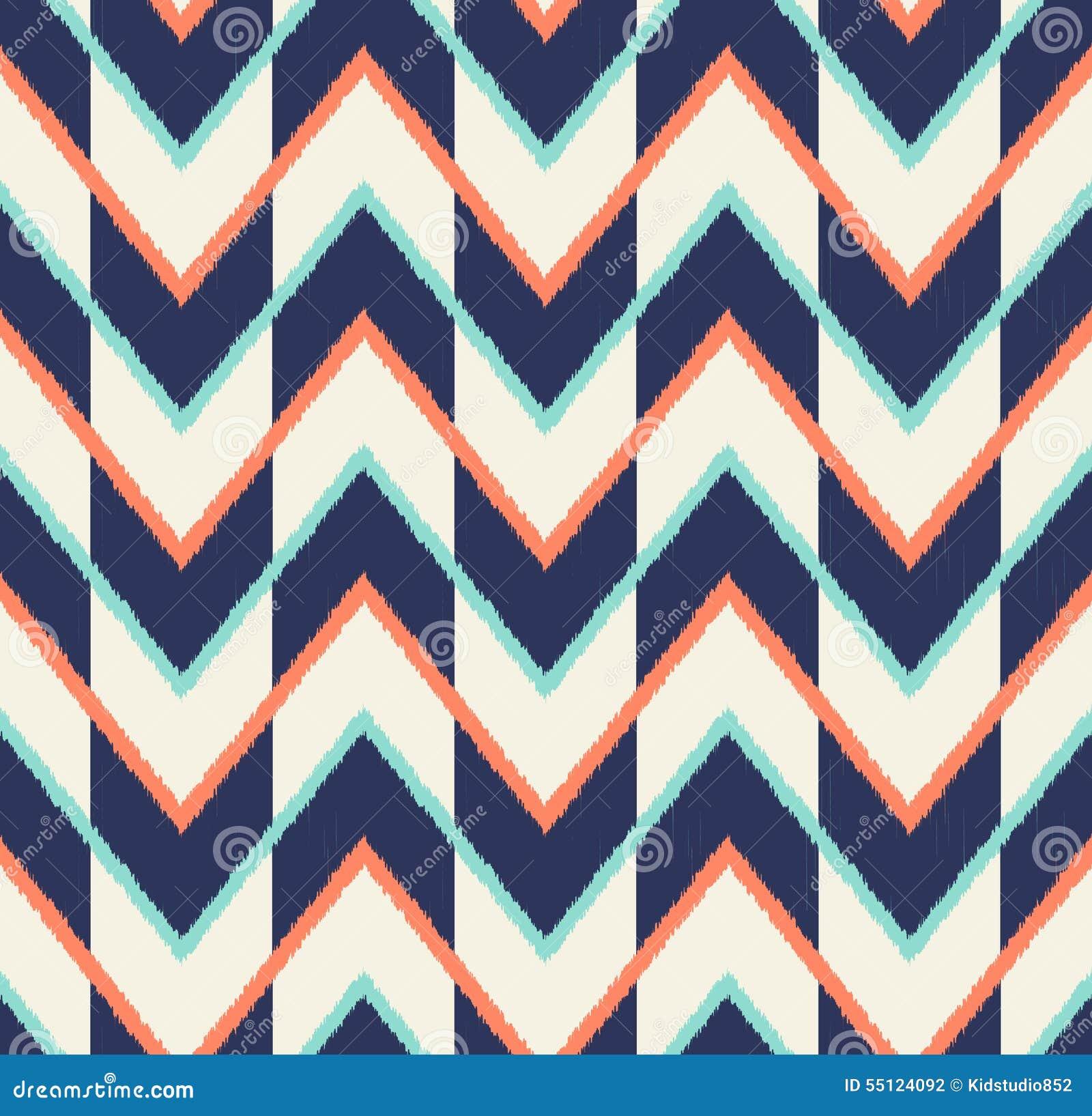 Seamless multicolor arrow pattern