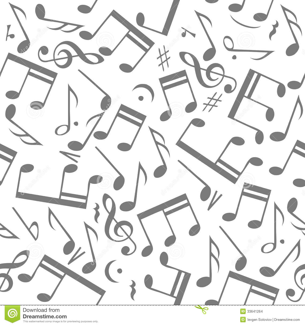 Black And White Music Notes Background Black music notes on white