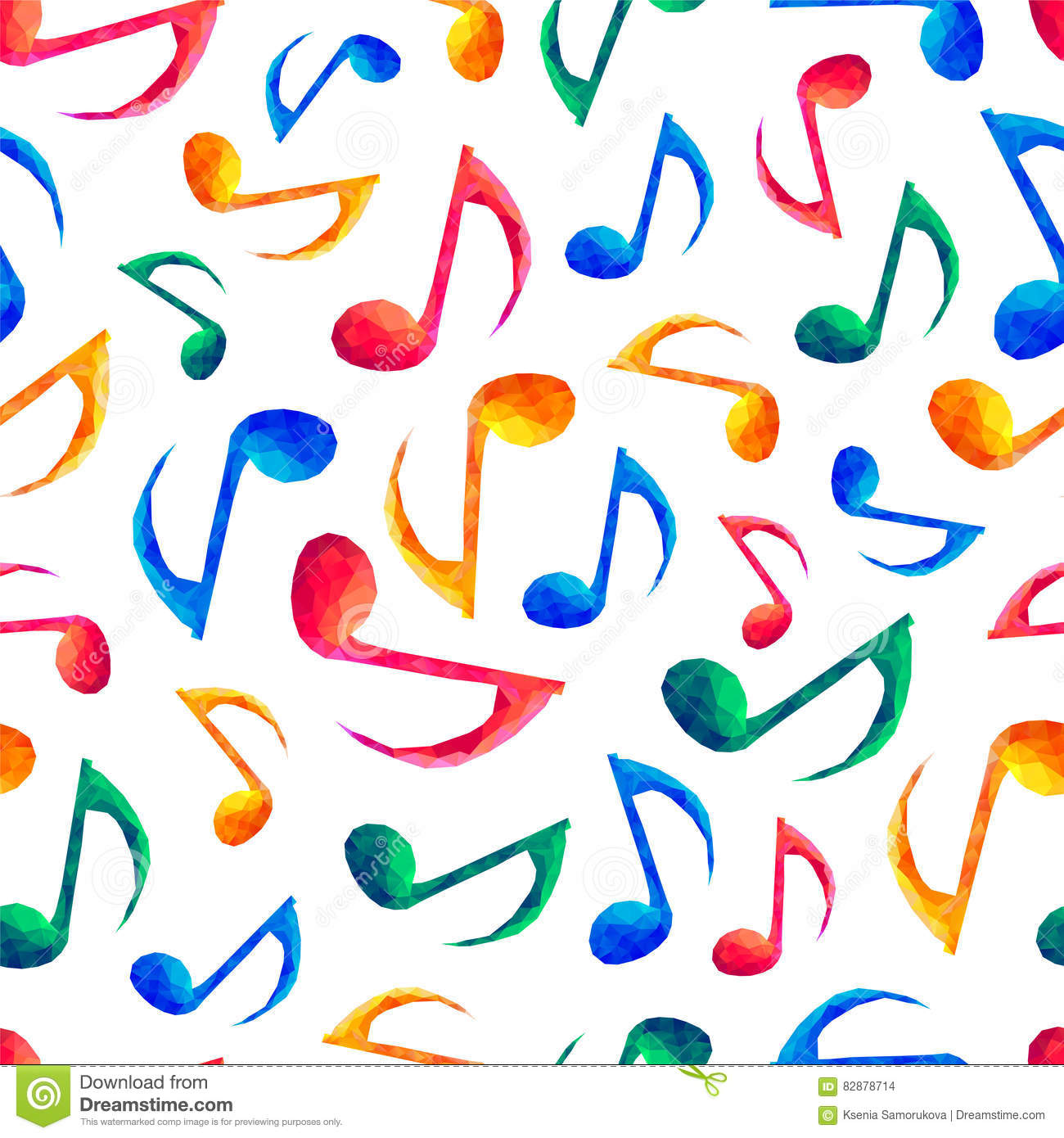 Seamless musical pattern - notes