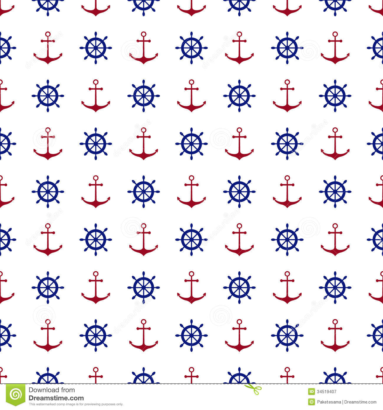 Seamless Nautical Background Stock Vector - Illustration ...