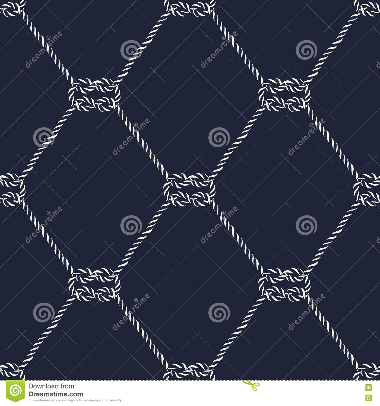 Seamless Nautical Rope Pattern Square Knots Stock Vector Knot Diagram