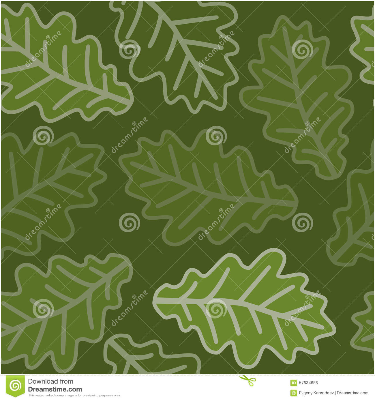 seamless oak leaves pattern stock vector illustration of foliage