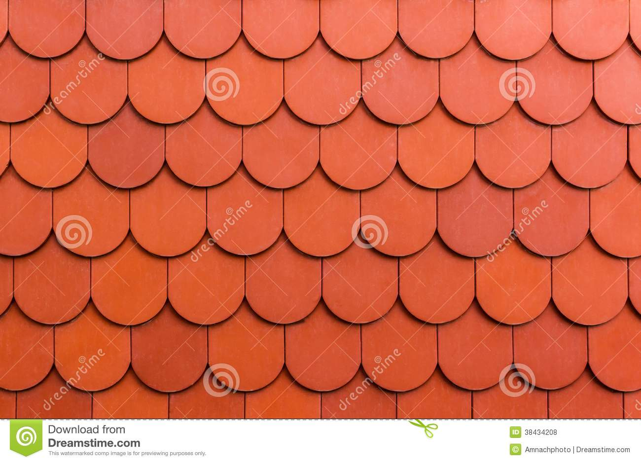 Seamless Orange Roof Tile Texture Background Royalty Free