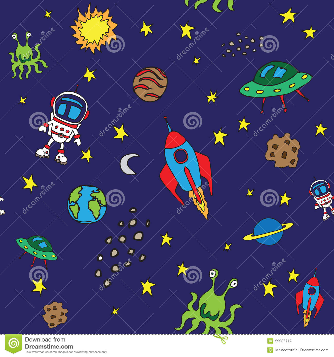 Seamless outer space pattern stock vector image 29986712 for Outer space pattern