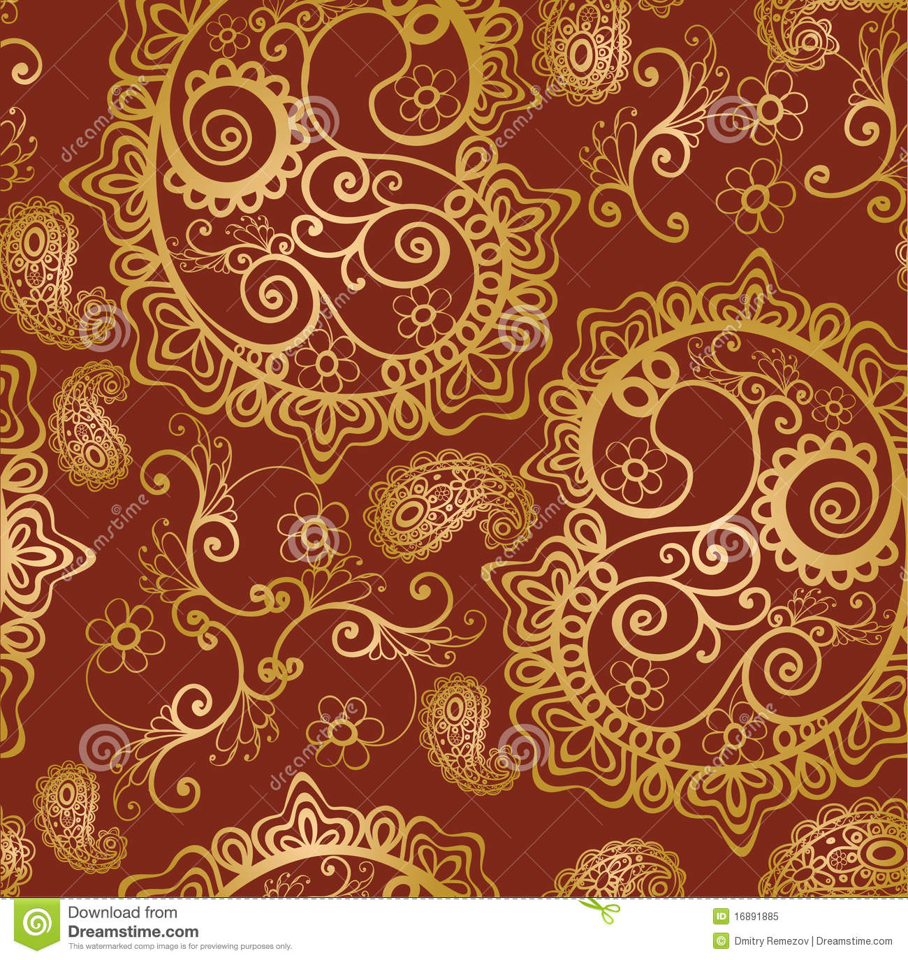 Seamless Paisley Background Royalty Free Stock Photo ...