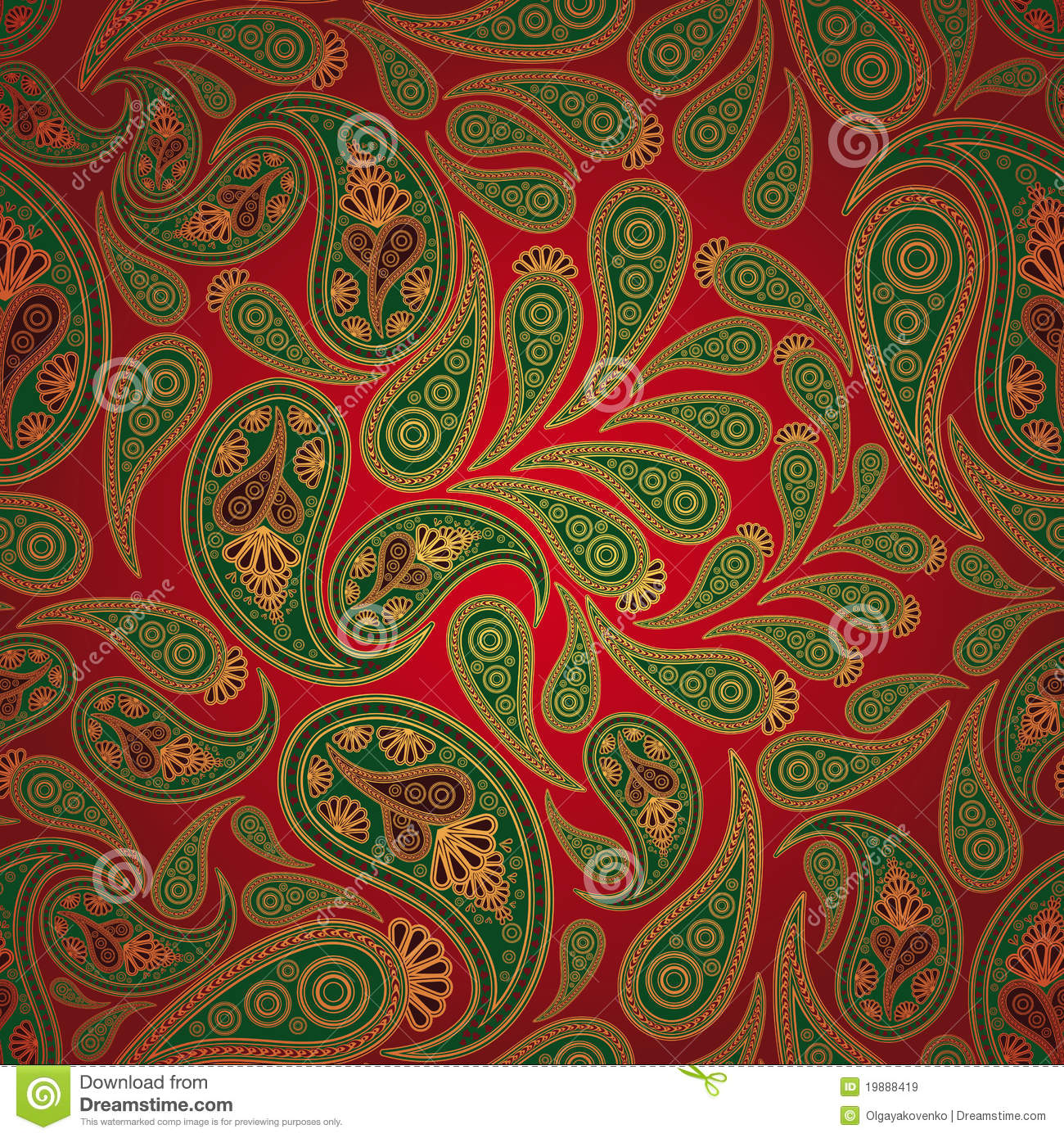 Seamless Paisley Background Royalty Free Stock Images ...