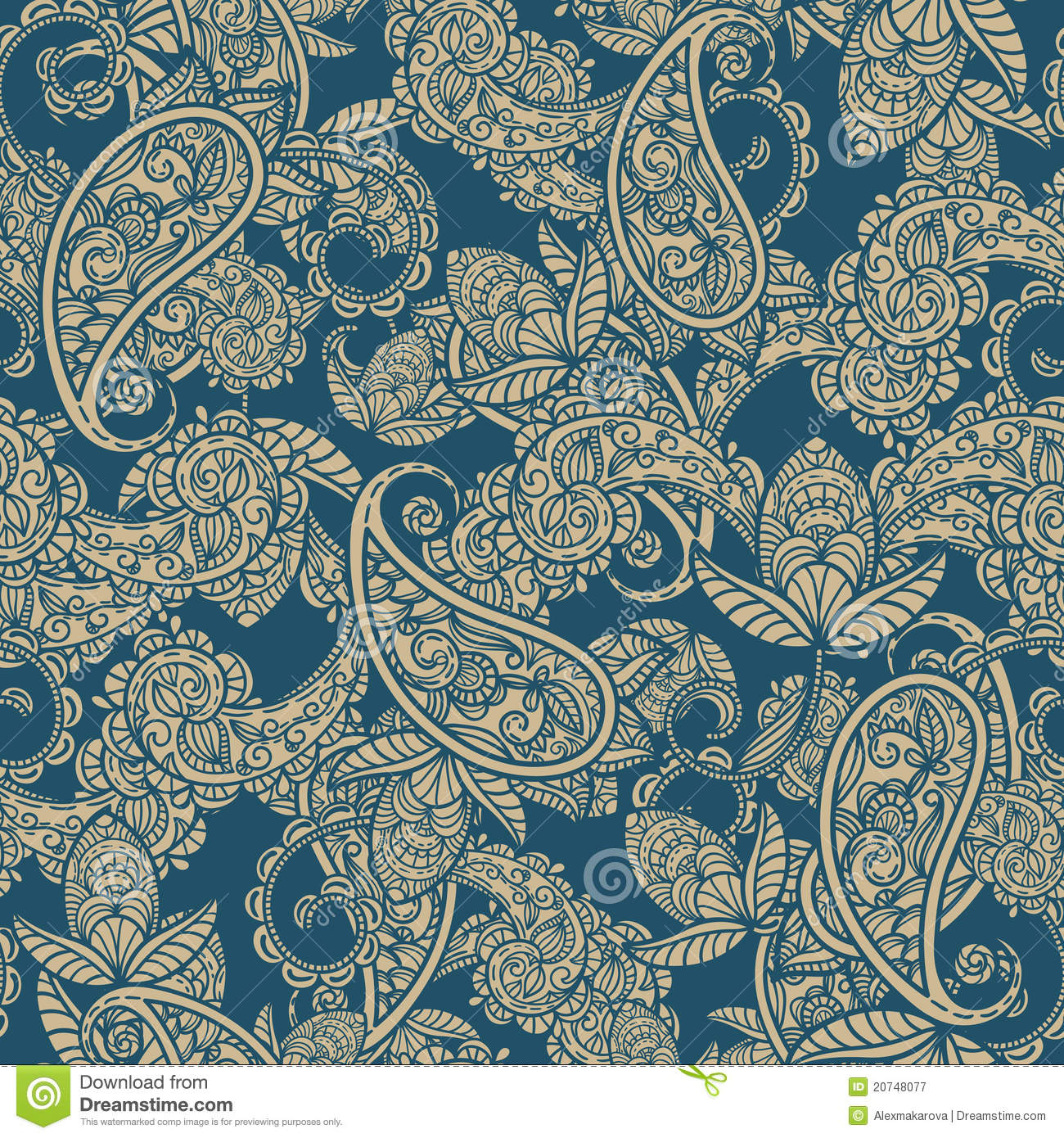 Seamless Paisley Background Royalty Free Stock Photography ...