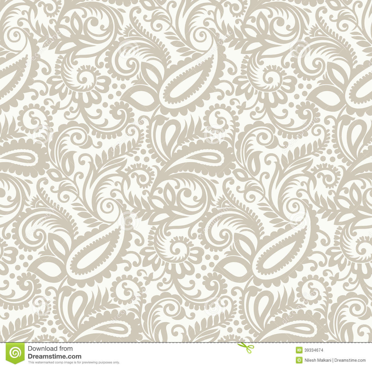 Seamless Paisley Background Stock Vector - Illustration of ...
