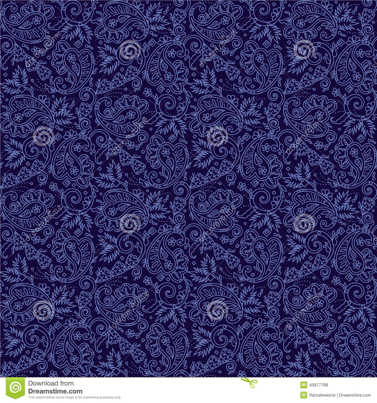 Seamless Paisley Background Stock Vector - Image: 45977788