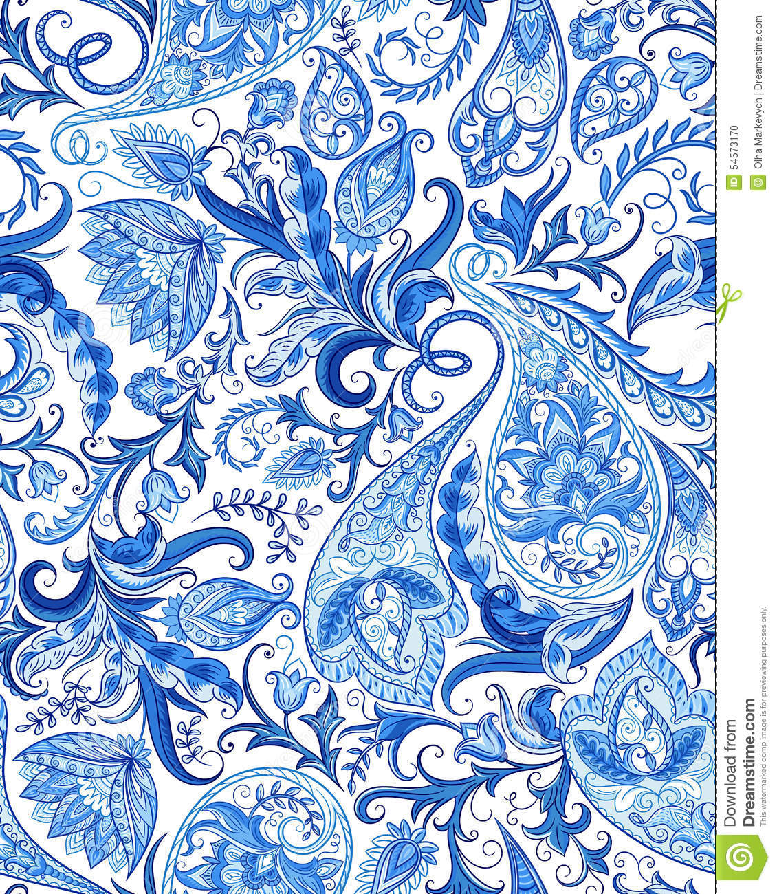 seamless paisley pattern stock vector image 54573170 paisley clipart without background paisley clip art images
