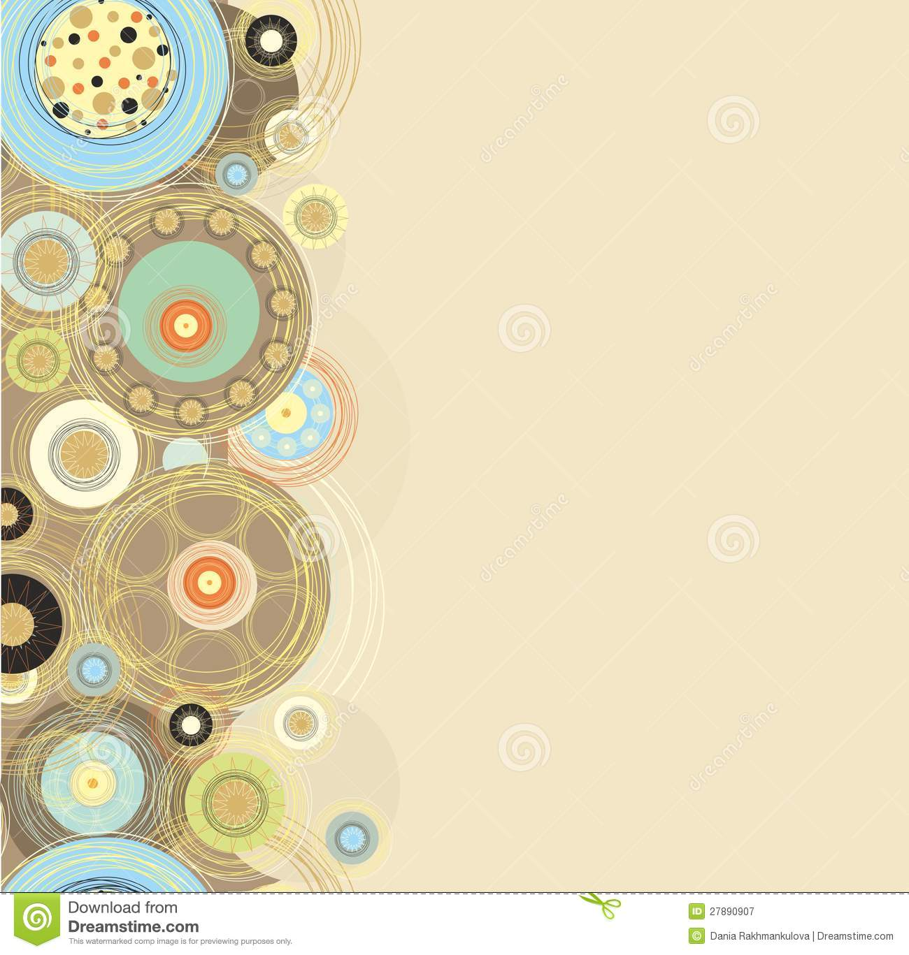 Seamless Paper Border Decor Stock Illustration