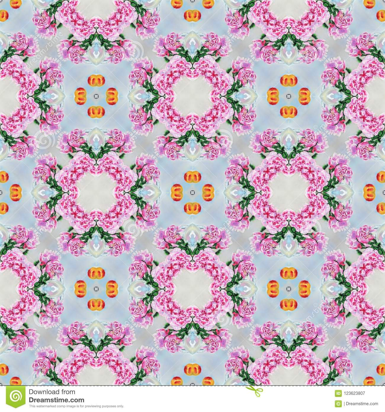 Seamless pastel pattern. Design for textiles, wrapping, wallpaper, porcelain, cloth, fabric, invitation, wedding or greeting cards