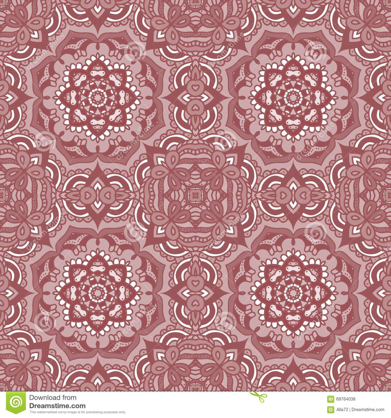 Seamless Patchwork Pattern Frame Of Trendy Floral Flower