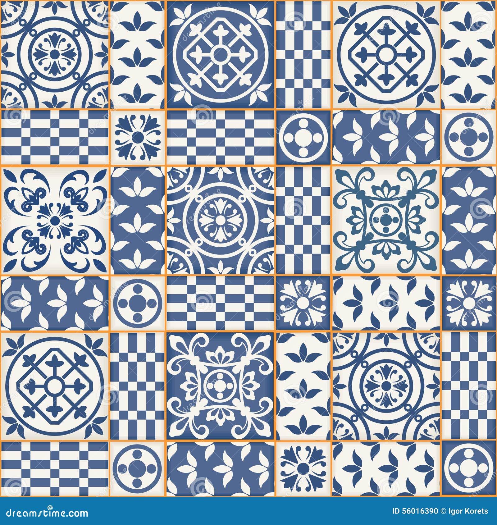 seamless patchwork pattern moroccan tiles stock vector. Black Bedroom Furniture Sets. Home Design Ideas