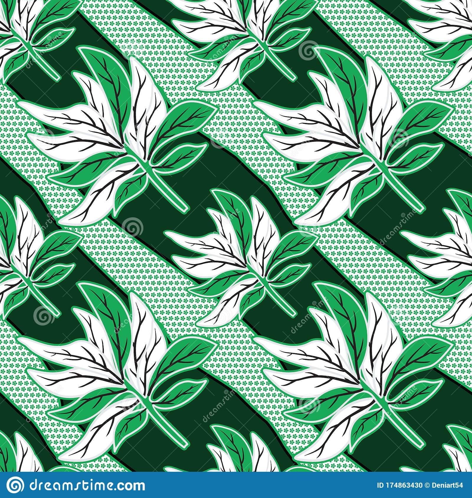 Seamless Pattern With Floral Vector, Indonesian Batik