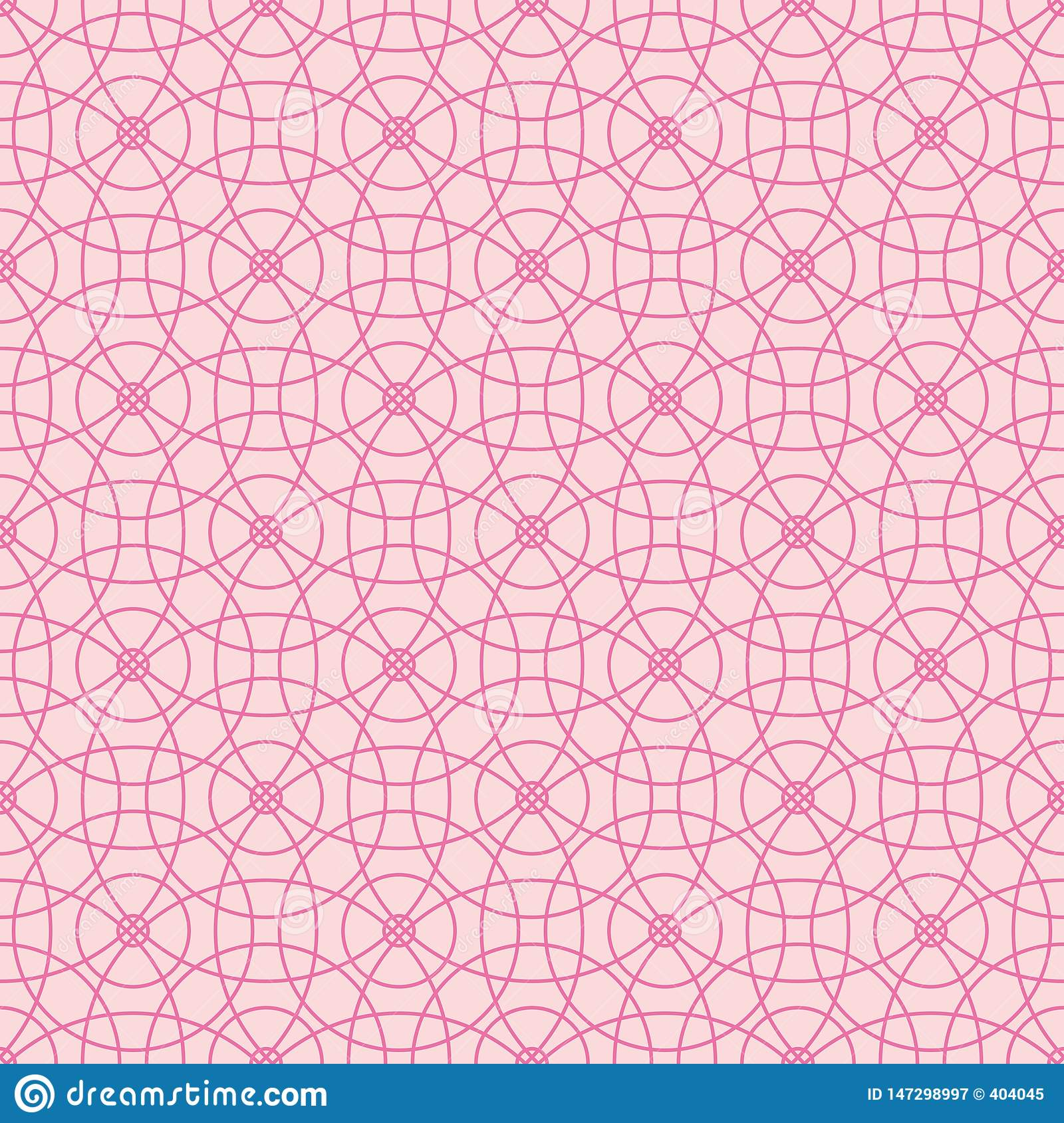 Seamless pattern of abstract pink circles on a light pink background for fabric, wallpaper, tablecloths, prints and designs.