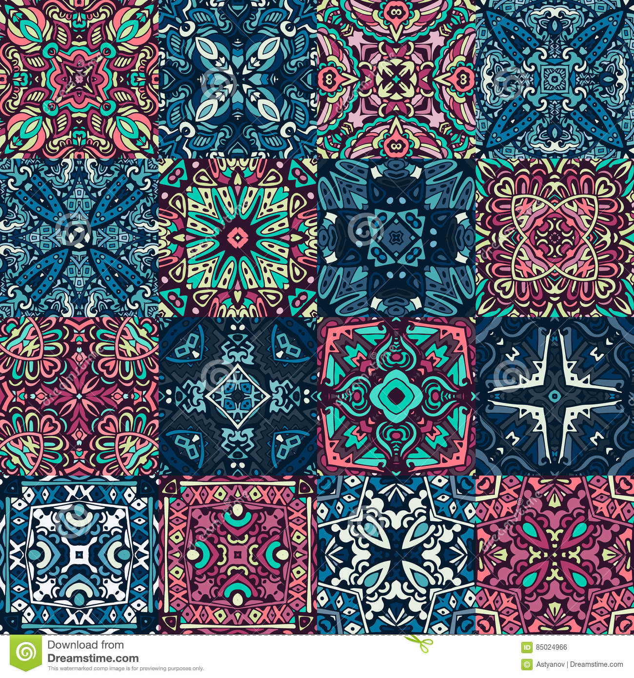 Seamless Pattern Abstract Tiles For Wall And Floor Stock Vector ...