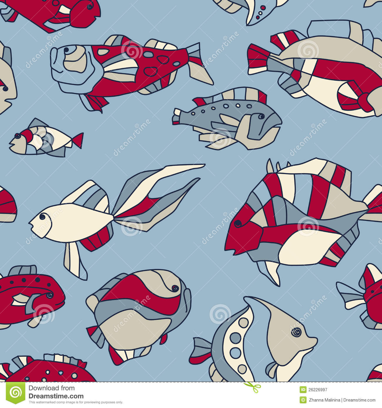 Seamless pattern aquarium fish wave royalty free stock for Seamless fish tank