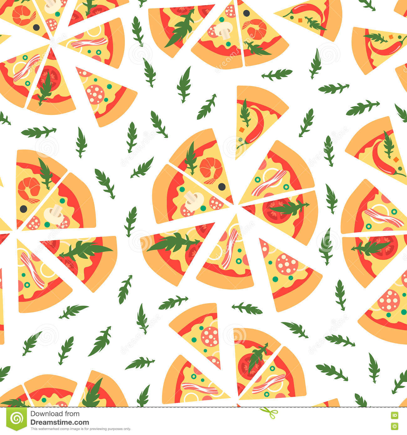 repeating pizza background - photo #5