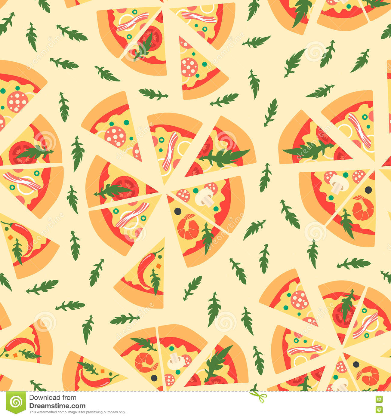 repeating pizza background - photo #3