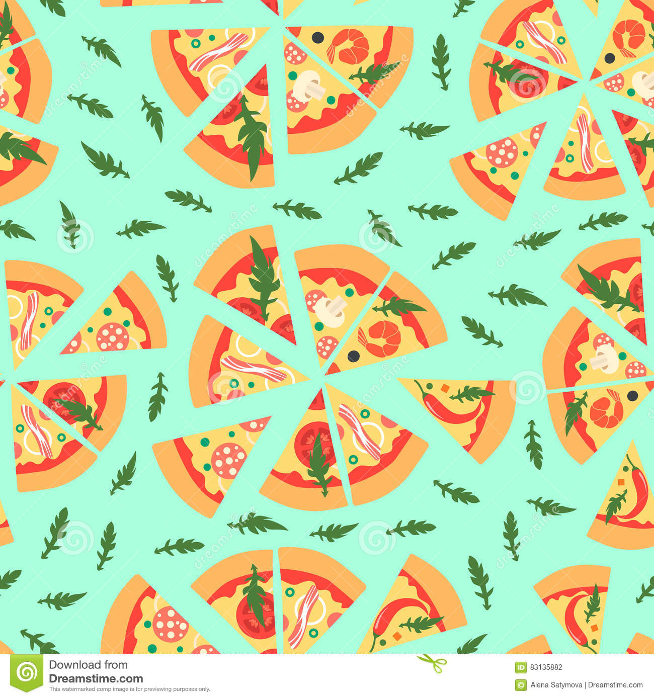 repeating pizza background - photo #9