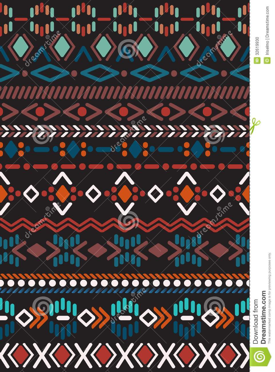 Native American Design Wallpaper : Seamless pattern in aztec style stock photo image