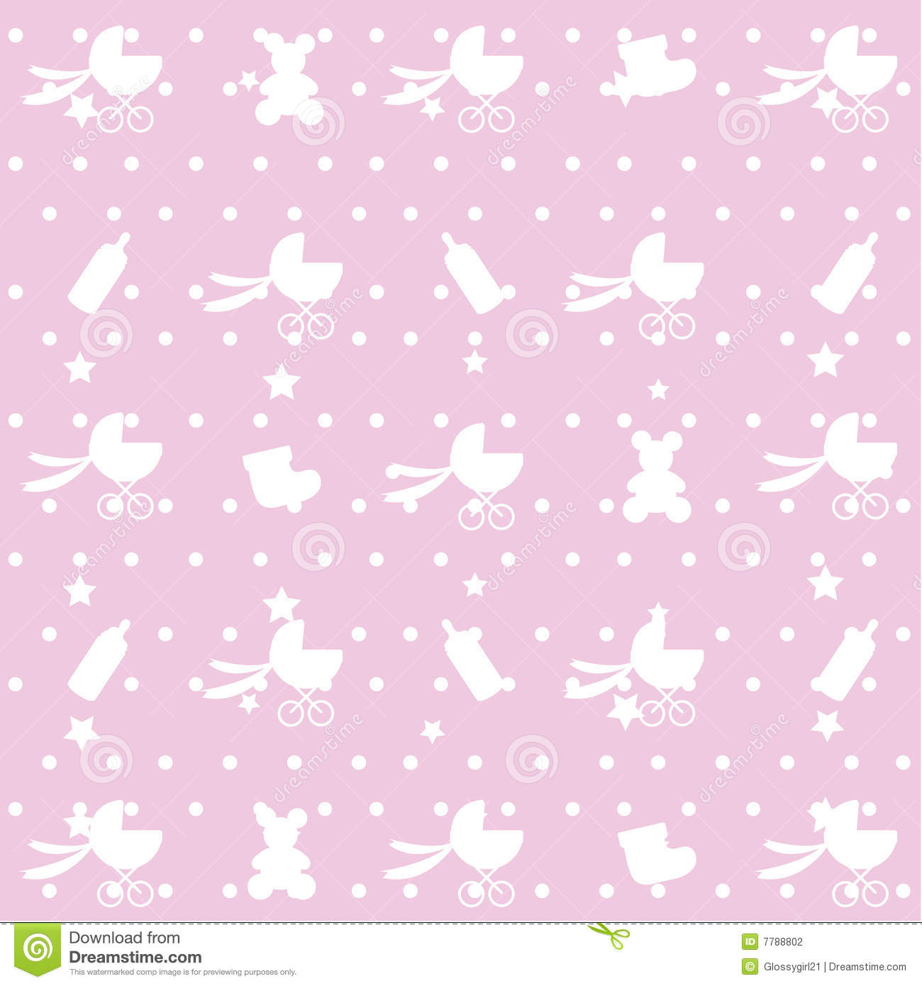 seamless pattern of baby items  stock photography