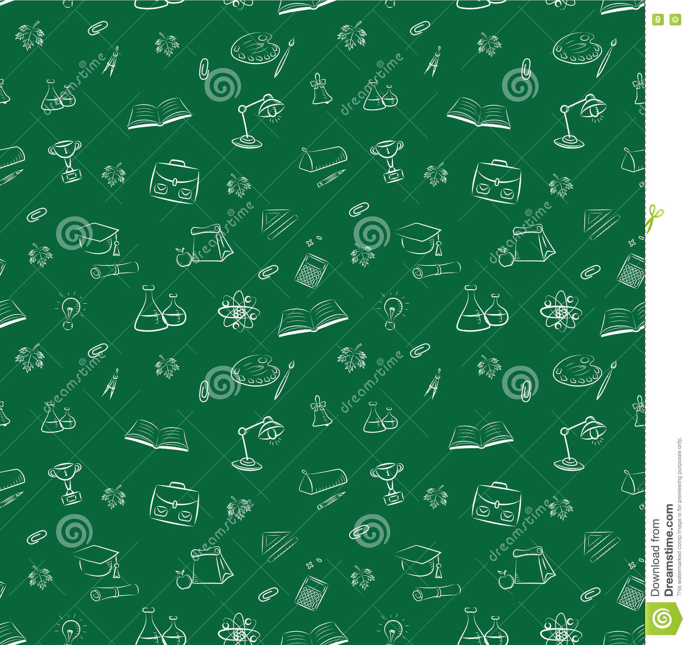 Seamless Pattern Back To School Vector Illustration Wallpaper