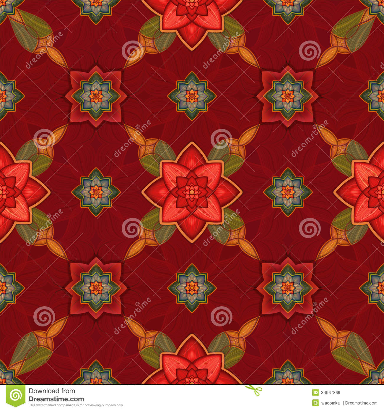 Christmas Gift Wrapper Design.Seamless Pattern Background Christmas Gift Wrapping Paper